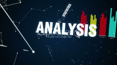 Statistics, Analysis, Logical thinking, Experience, Decision, Text animation 'INVESTMENT'