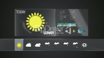 Sunny, Weather icon set animation(included alpha)