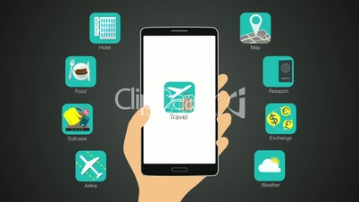 Travel application function for smart phone,mobile