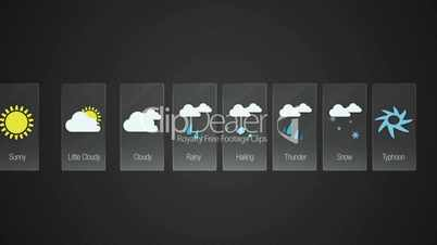Wather forecast icon for travel contents.Digital display application.(included Alpha)