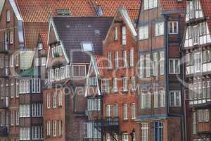 Gebäude der Deichstraße am Nicolaifleet in Hamburg, Deutschlan