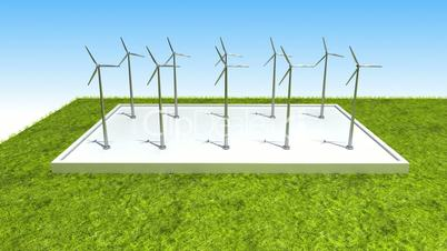 Wind energy changed power electric energy. and supply a city with electricity