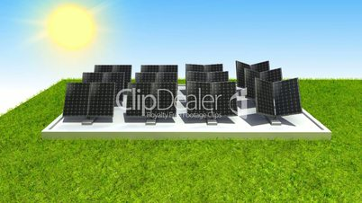 Solar energy changed power electric energy. and supply a city with electricity