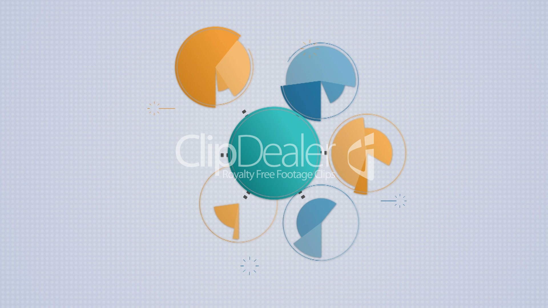 Circle Diagram Flow Chart 7 Circle Royalty Free Video And Stock