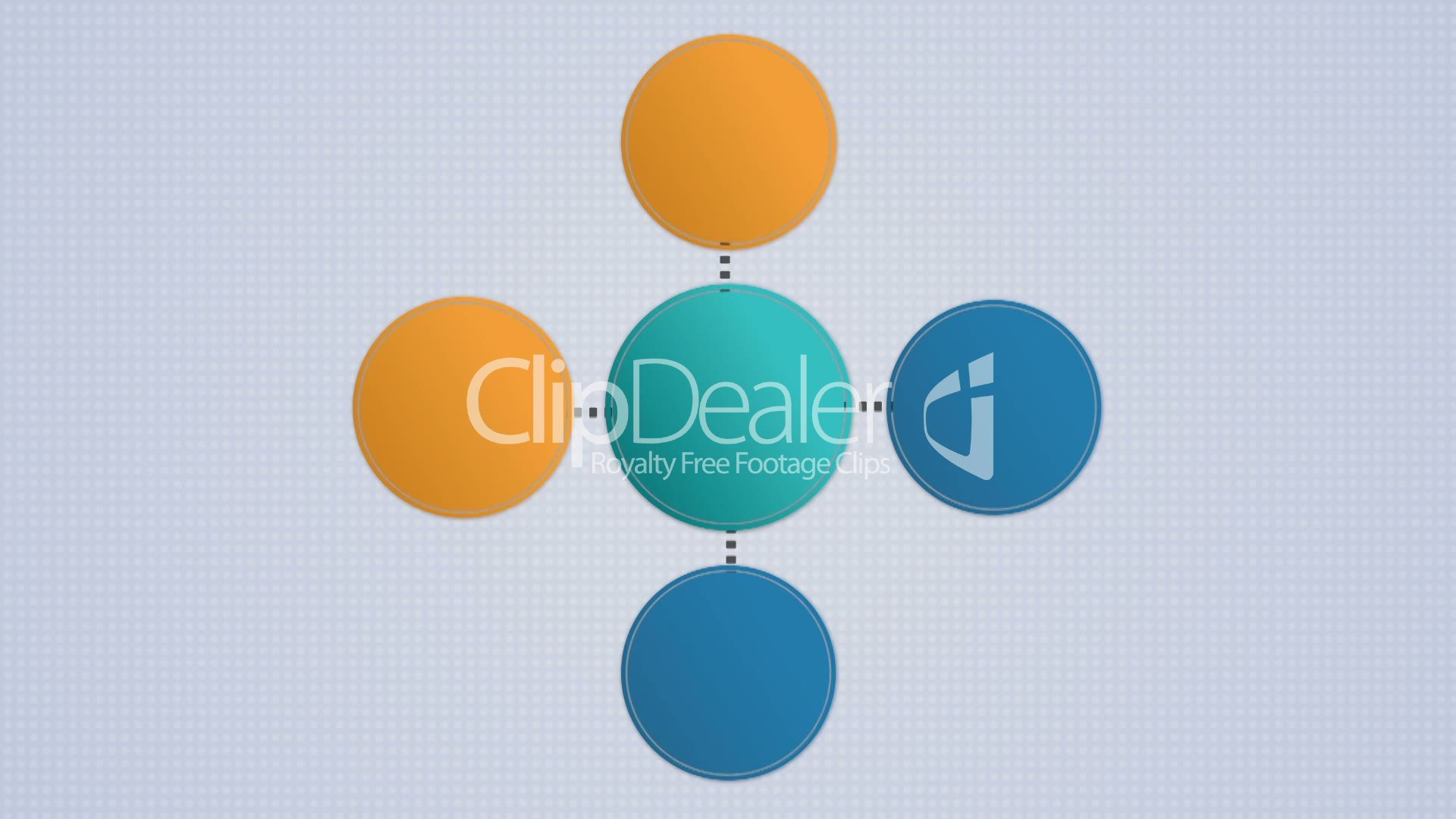 Circle Diagram Flow Chart 5 Circle Royalty Free Video And Stock