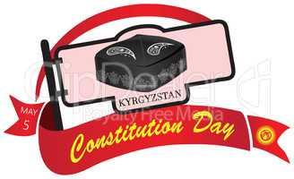 Banner Constitution Day in Kyrgyzstan