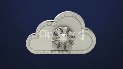 Access Cloud file security animation (included Alpha) Opened cloud safe.