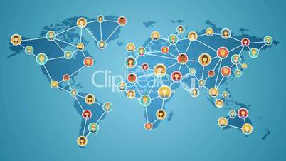 Smart phone connecting people of the world, Global business network. social media service.2