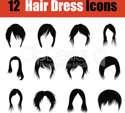 Set of woman's hairstyles icons