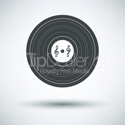 Analogue record icon