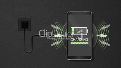 Explain wireless charge function, using smart phone and mobile phone