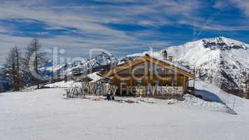 Mountain hut in the Via Lattea