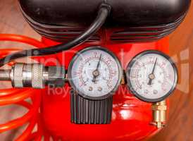 Air compressor manometer