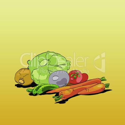 Fresh green vegetables green vegetarian cuisine