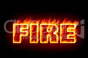 fire in flames