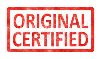 stamp original certified