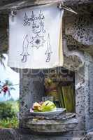 religious offering in Bali