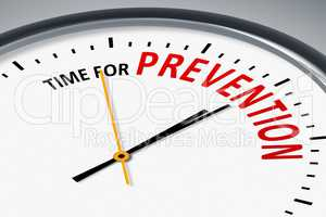 clock with text time for prevention