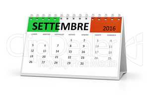 italian language table calendar 2016 september