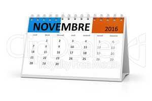 french language table calendar 2016 november