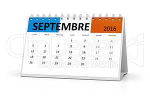 french language table calendar 2016 september