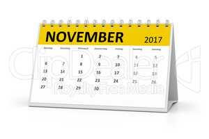 german language table calendar 2017 november