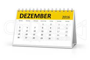 german language table calendar 2016 december