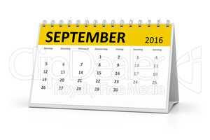 german language table calendar 2016 september