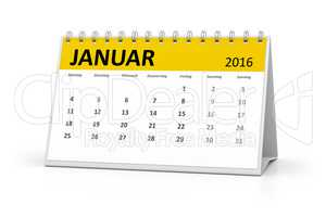 german language table calendar 2016 january