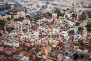 Bird's eye view of Tiruchirappalli