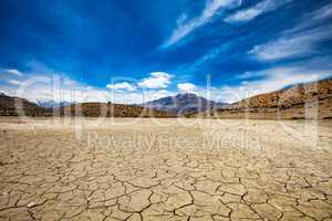 Dry Dhankar lake India