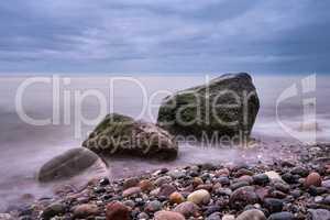 Steine an der Ostseeküste