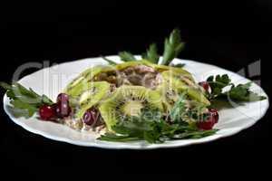 Image of originally designed meat salad