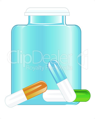 bottle and tablets.eps