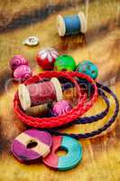Colorful beads for bracelet