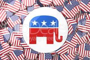 Composite image of elephant badge
