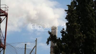 Smokestack of industrial building