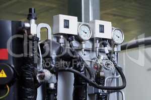Image of pressure indicator on machine