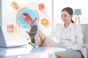 Composite image of start up business graphic
