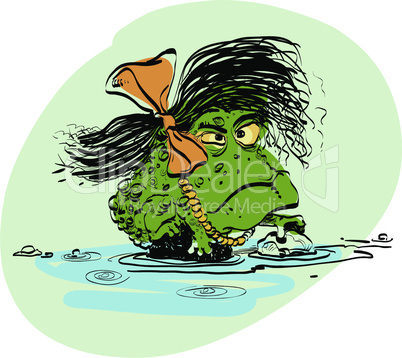 amphibian frog girl