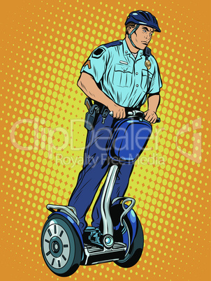 Police patrol electric scooter