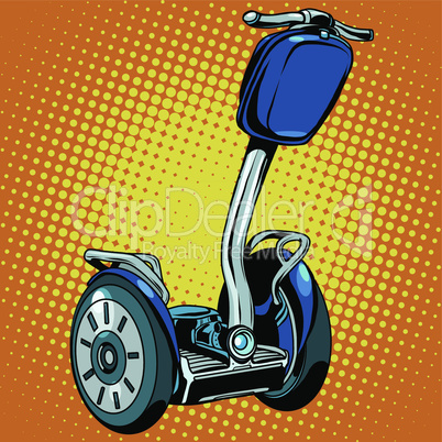 Abstract electric scooter with flashlight segway