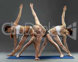 Fitness. Energetic persons doing workout at camera