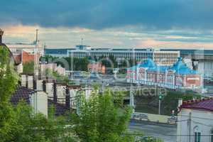 Architecture of Tomsk city. Russian Federation
