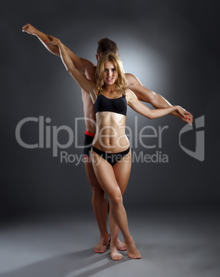 Power and grace of athletes. Photography concept