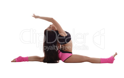 Shaping. Photo of woman trains her stretching