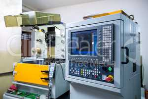 Manufacturing. Image of arc cutting machine