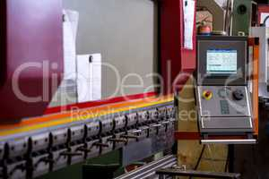 Manufacturing workshop. Image of bending machine