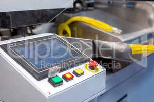 Manufacturing. Shot of machine for crimping wires