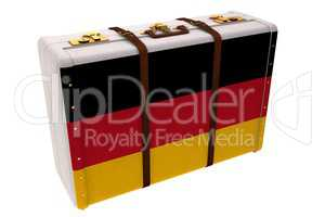 German flag suitcase